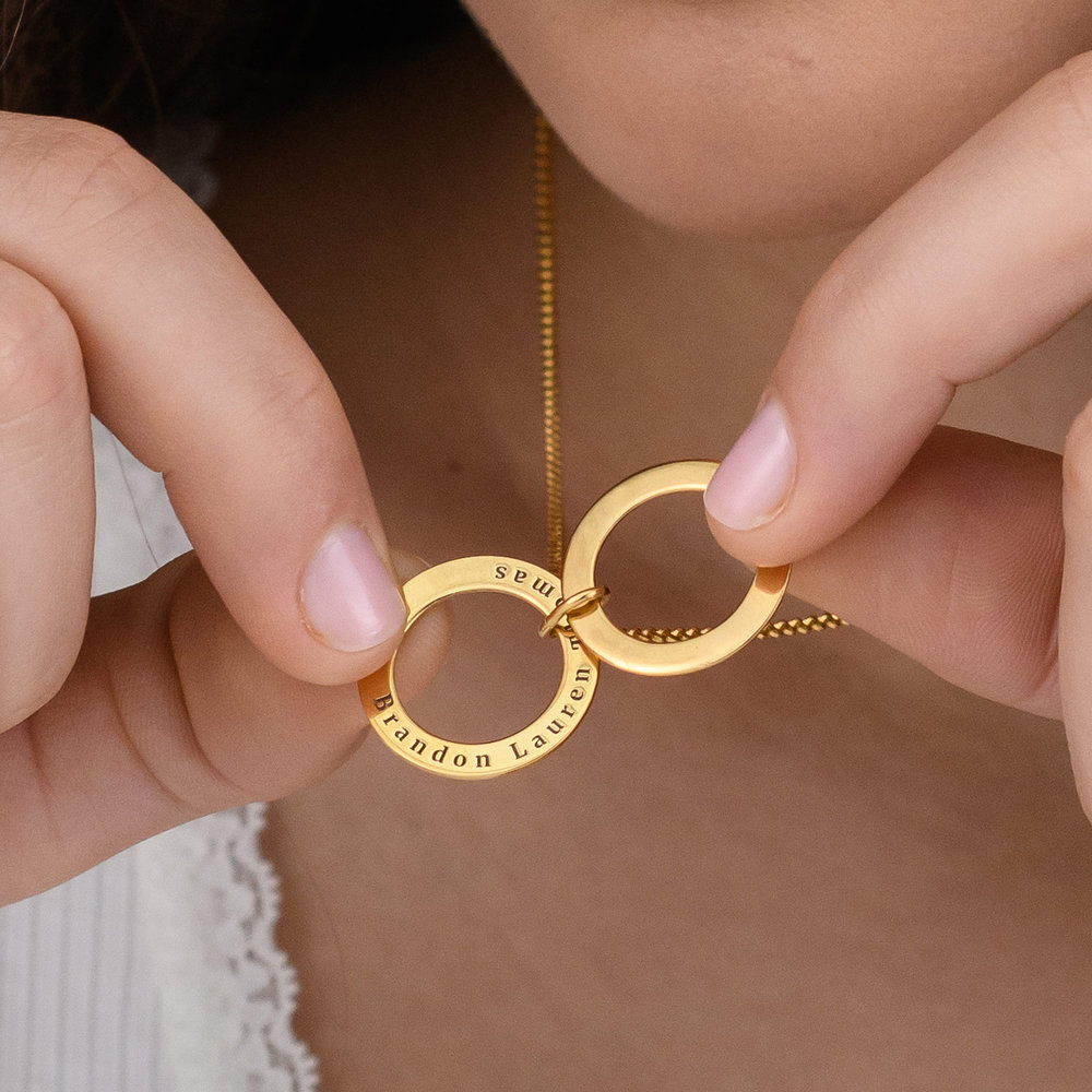Hidden Message Engraved  Necklace - Gold Plated - 6
