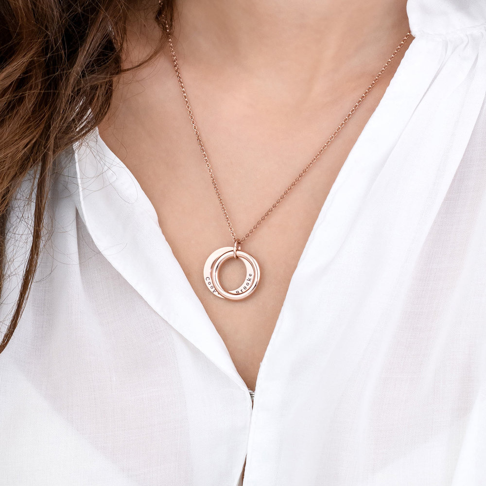 Hidden Message Engraved  Necklace - Rose Gold Plated - 4
