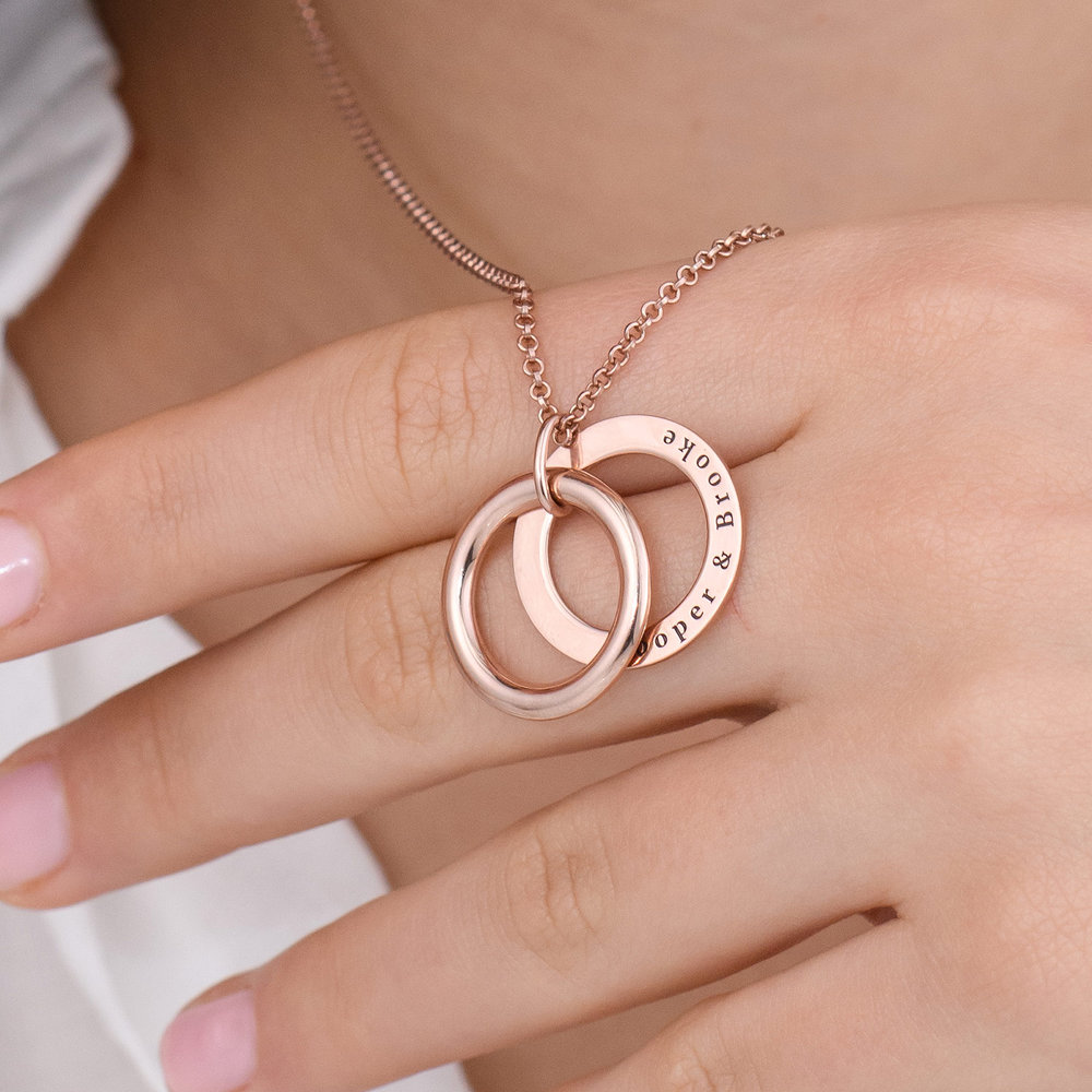 Hidden Message Engraved  Necklace - Rose Gold Plated - 5