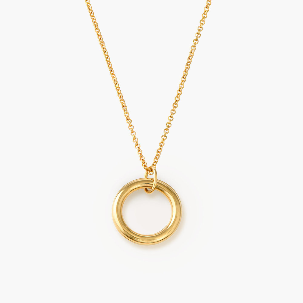Hidden Message Engraved Necklace - Gold Vermeil - 1