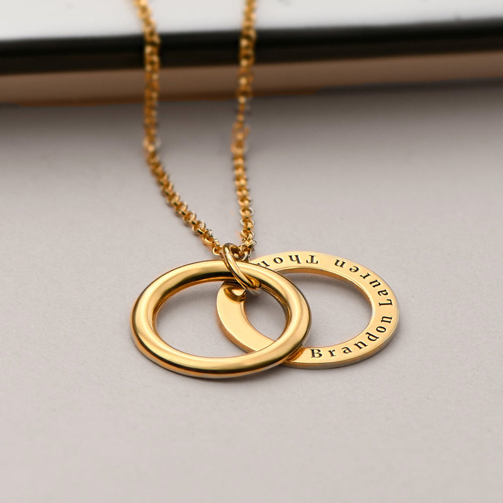 Hidden Message Engraved Necklace - Gold Vermeil - 2