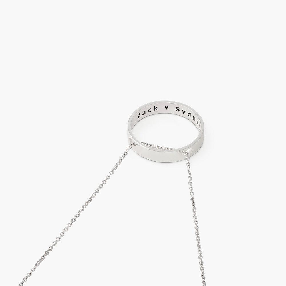 Caroline Circle Necklace - Silver - 1