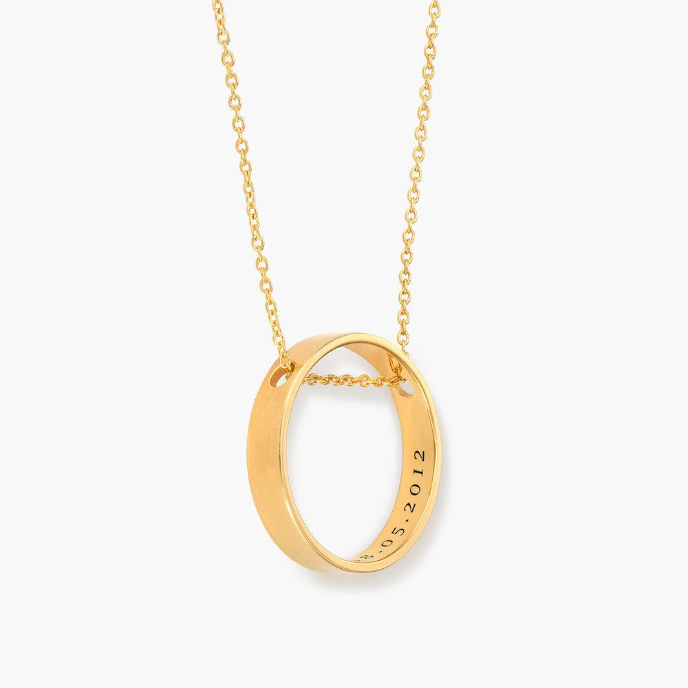 Caroline Circle Necklace - Gold Plated