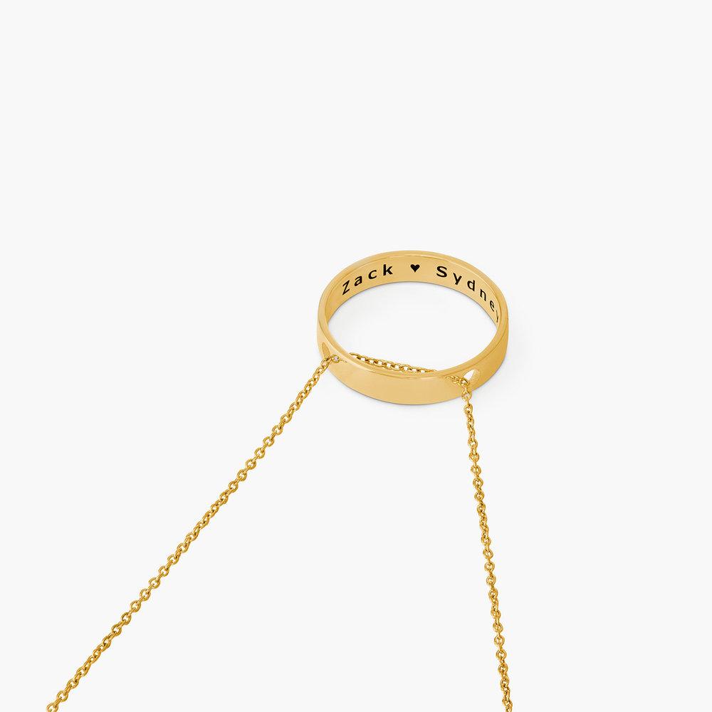 Caroline Circle Necklace - Gold Plated - 1