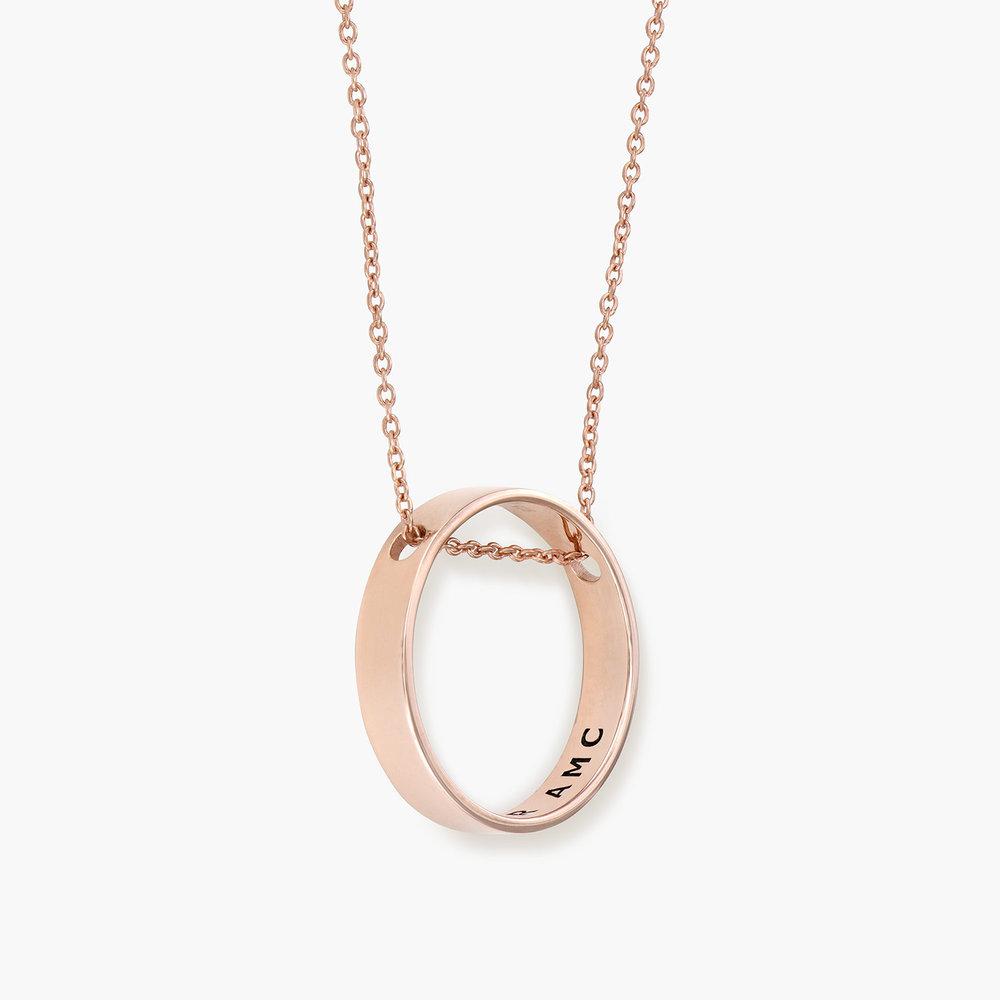Caroline Circle Necklace - Rose Gold Plated