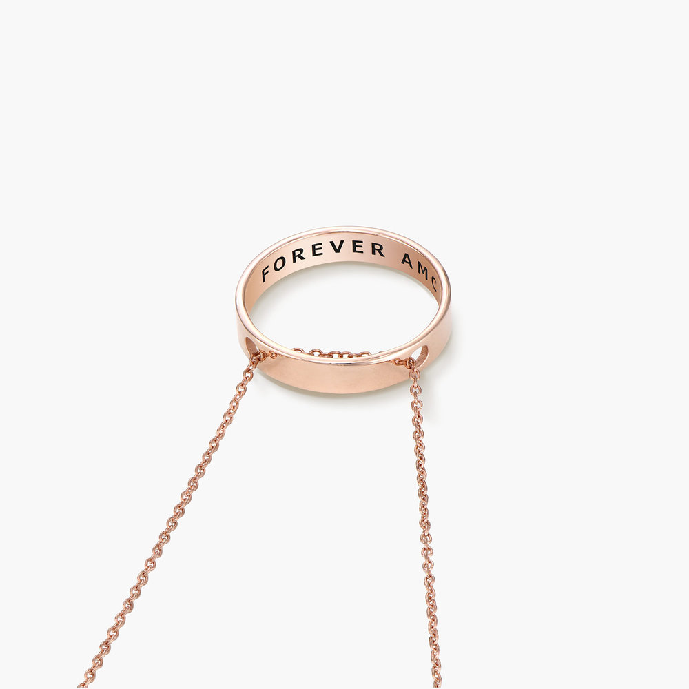 Caroline Circle Necklace - Rose Gold Plated - 1