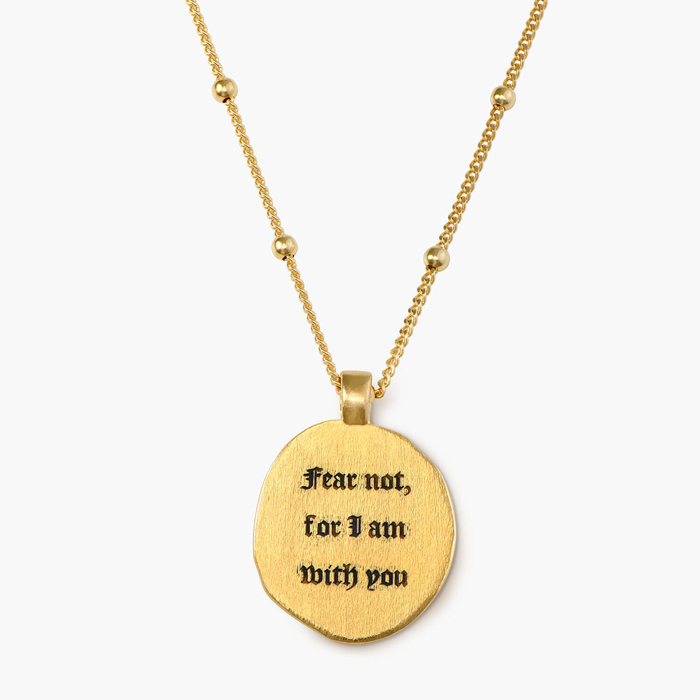 Faith Vintage Coin Necklace - Gold Plated - 1