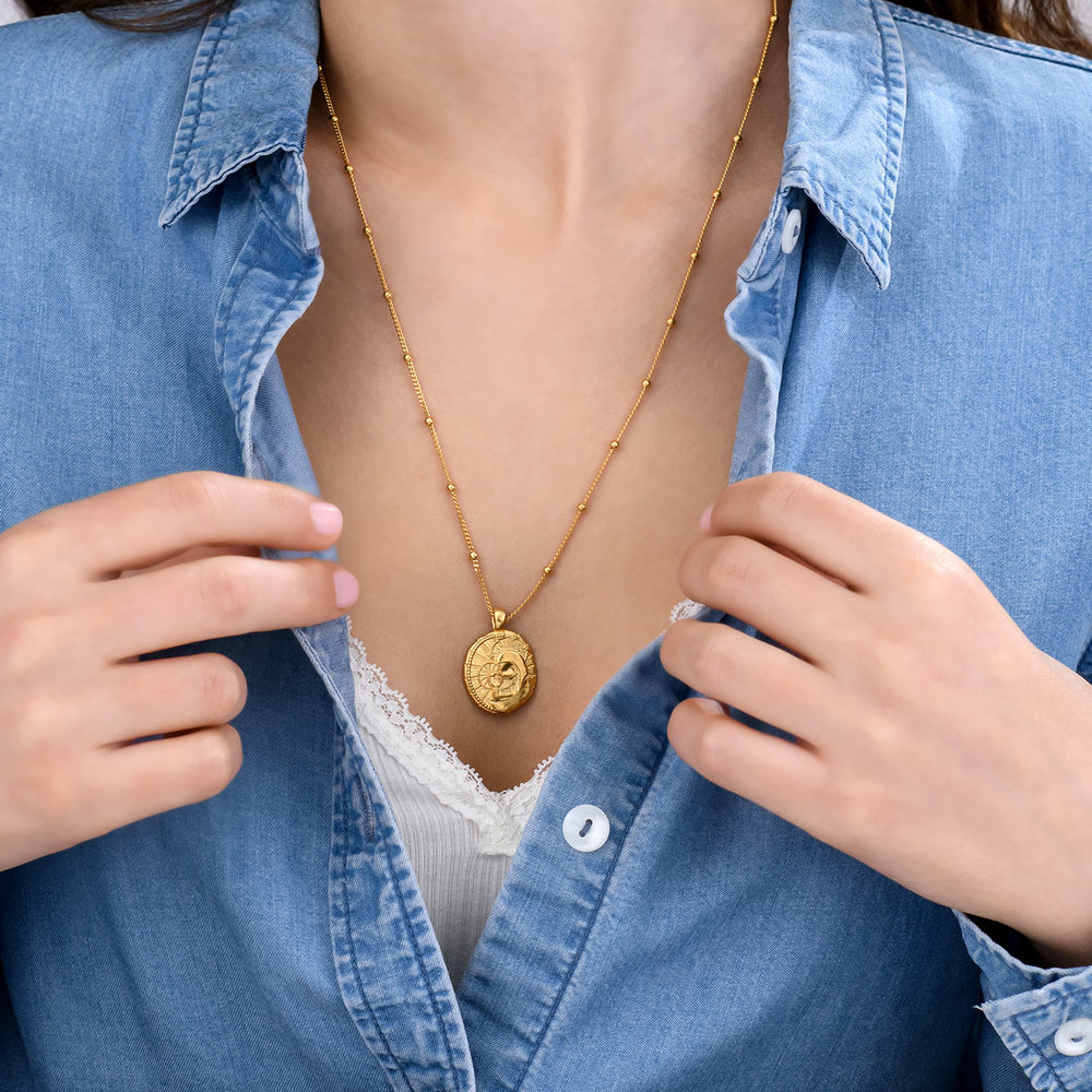 Faith Vintage Coin Necklace - Gold Plated - 3