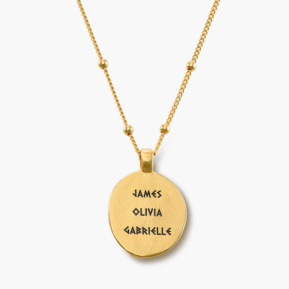 Goddess of Family Vintage Greek Coin Necklace - Gold Plated - 1
