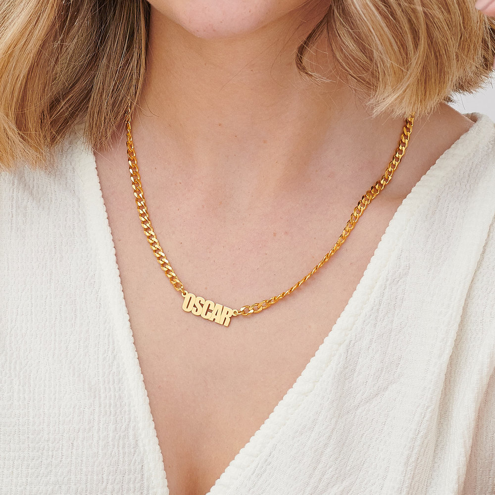 Icon State Name Necklace - Gold Plating - 3