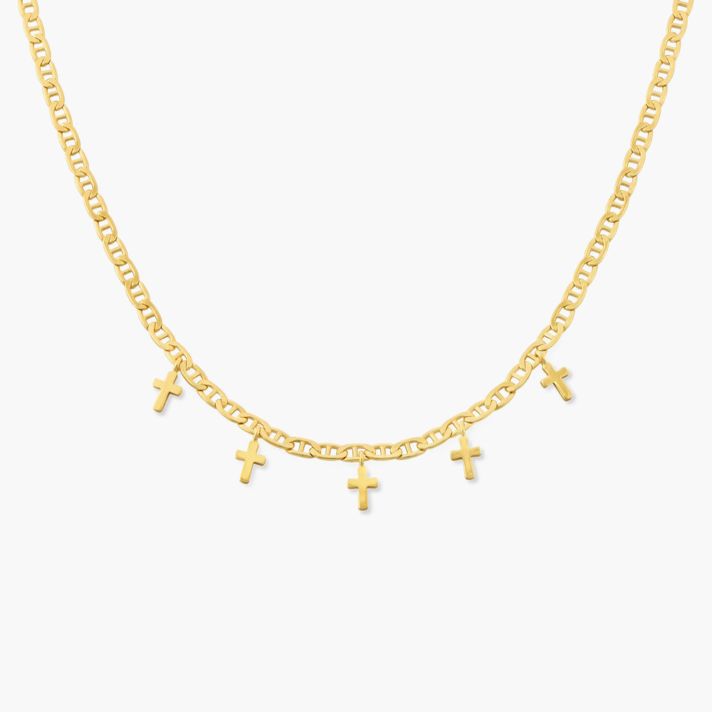 Multi-cross necklace - Gold Plated