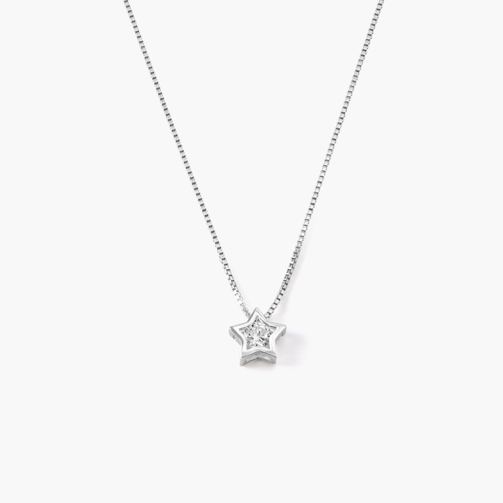 Rising Star Necklace - Sterling Silver and Cubic Zirconia