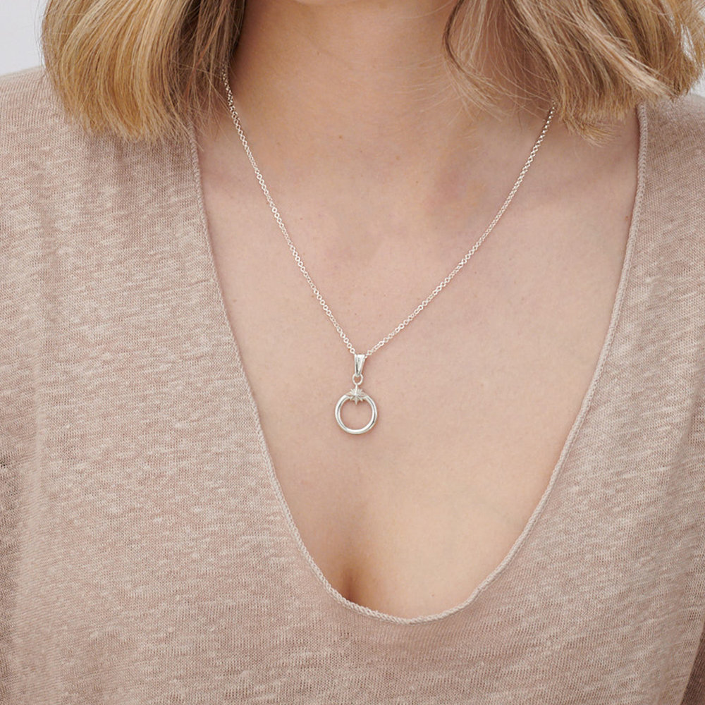 Zen North Star Necklace - Sterling Silver - 2