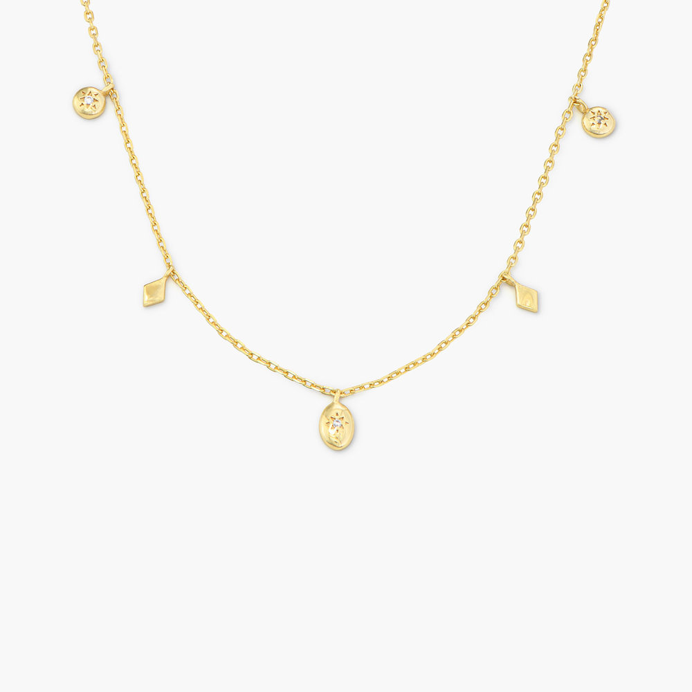 Ethereal Drops Necklace - Gold Plated