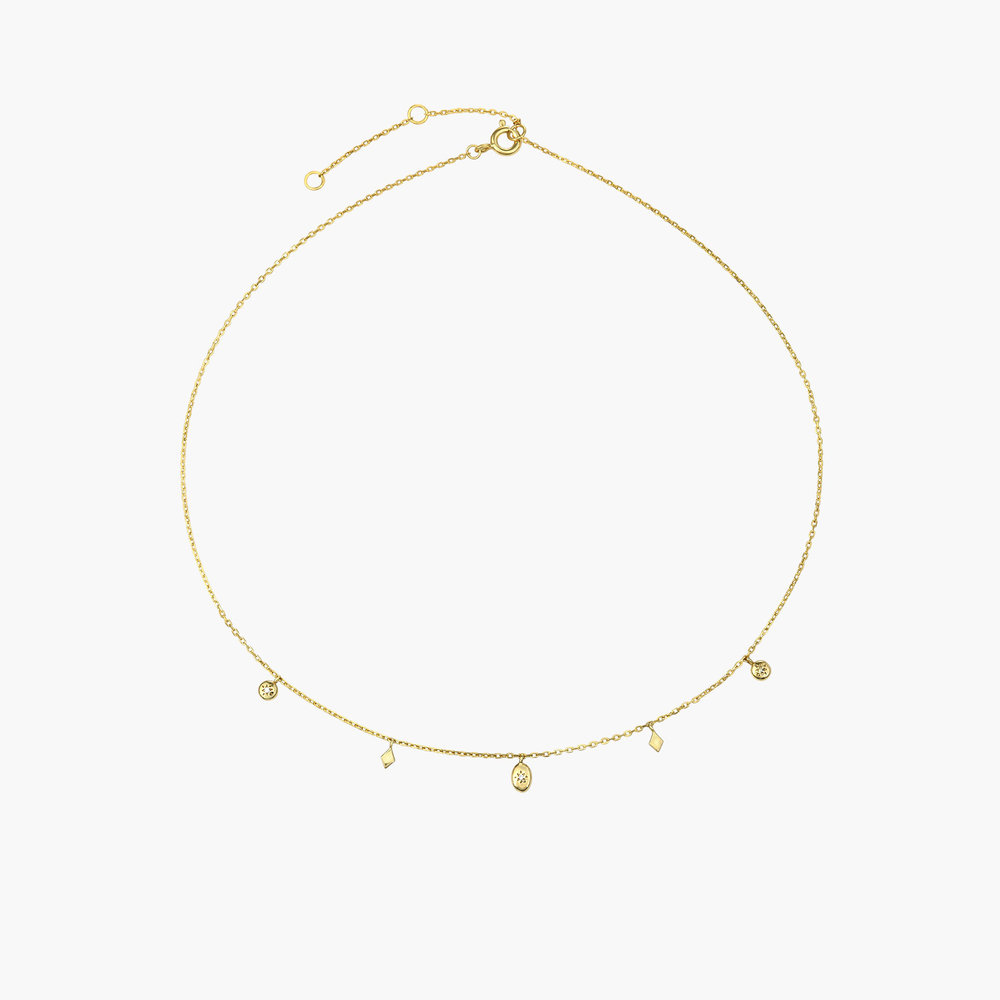 Ethereal Drops Necklace - Gold Plated - 1