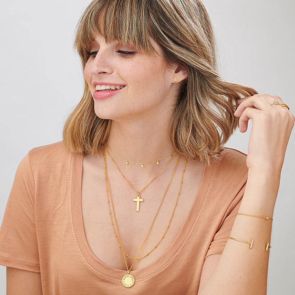 Ethereal Drops Necklace - Gold Plated - 4
