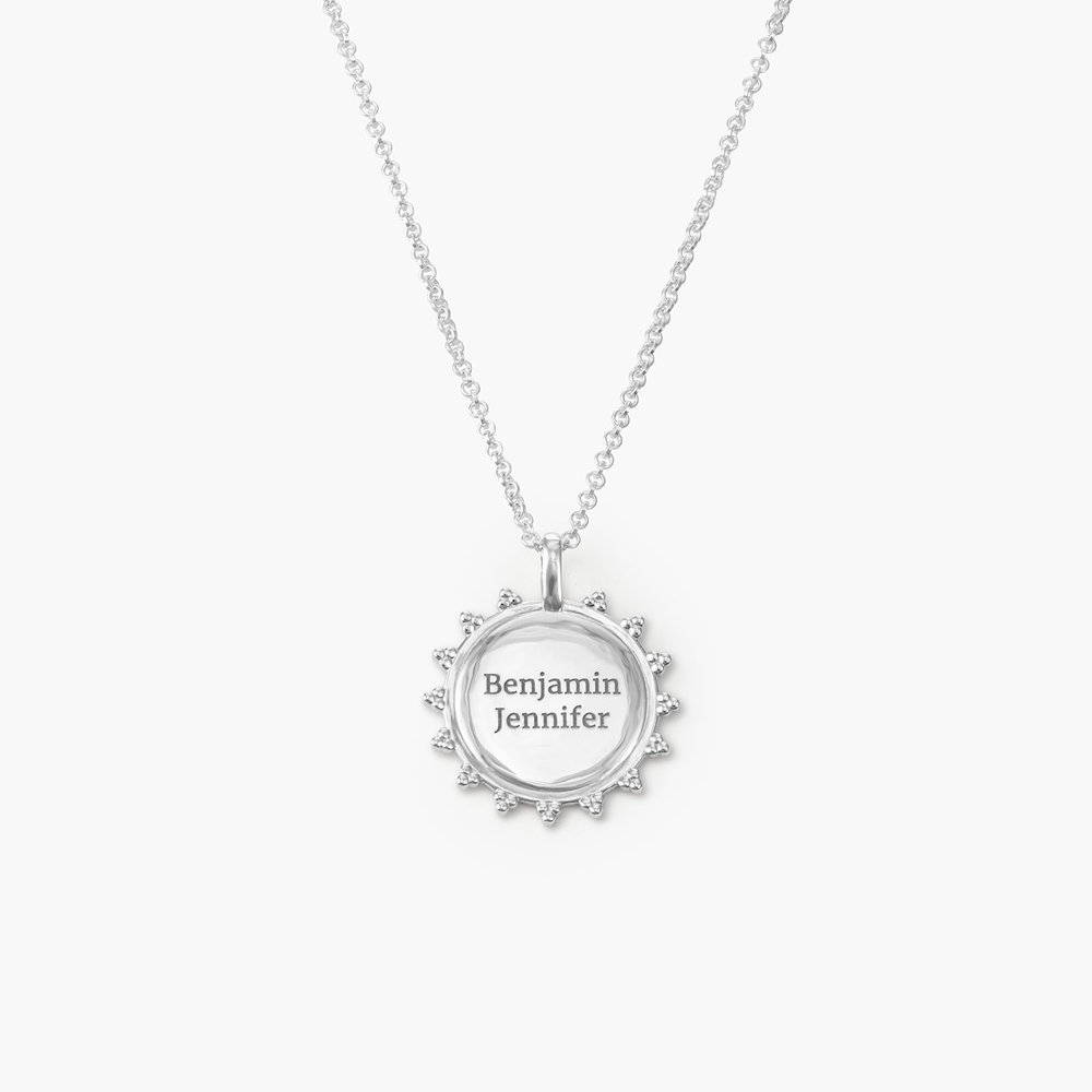 Fusion Sun Necklace - Sterling Silver