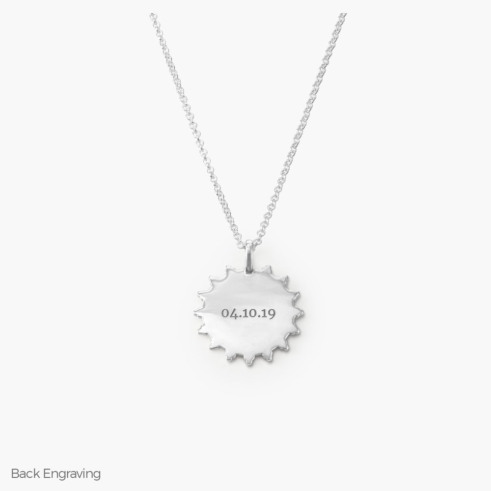 Fusion Sun Necklace - Sterling Silver - 1
