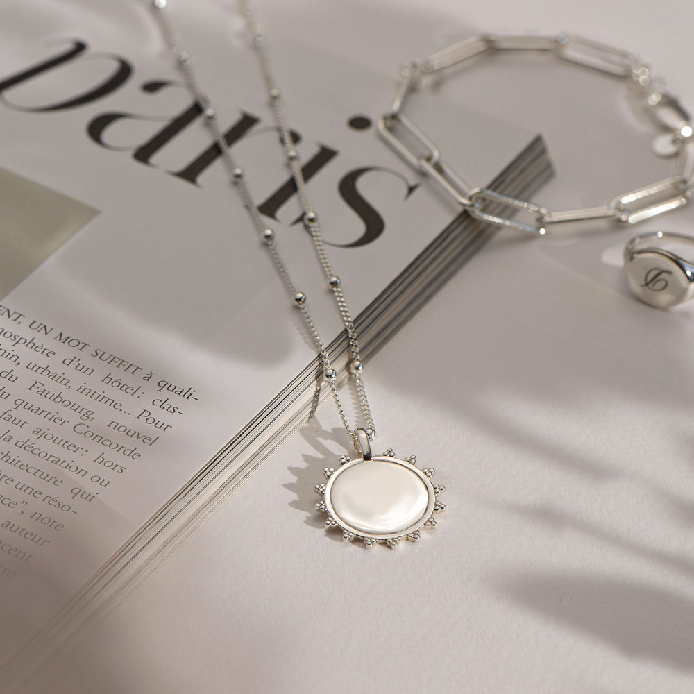 Fusion Sun Necklace - Sterling Silver - 2