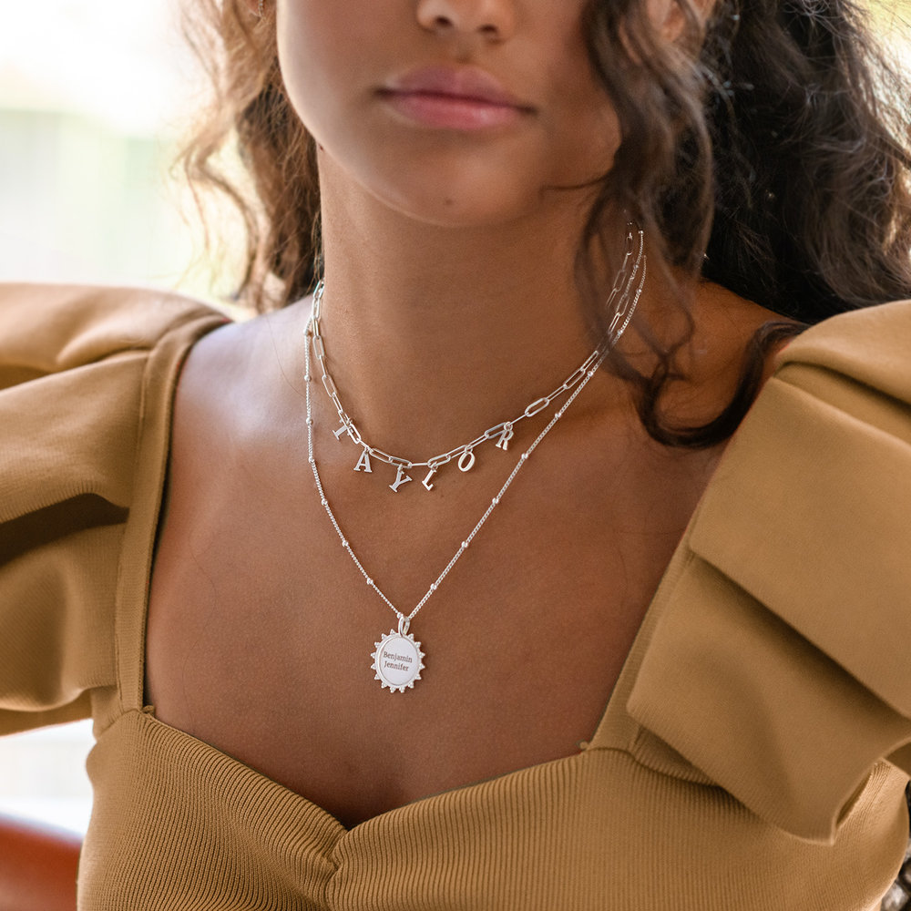 Fusion Sun Necklace - Sterling Silver - 3