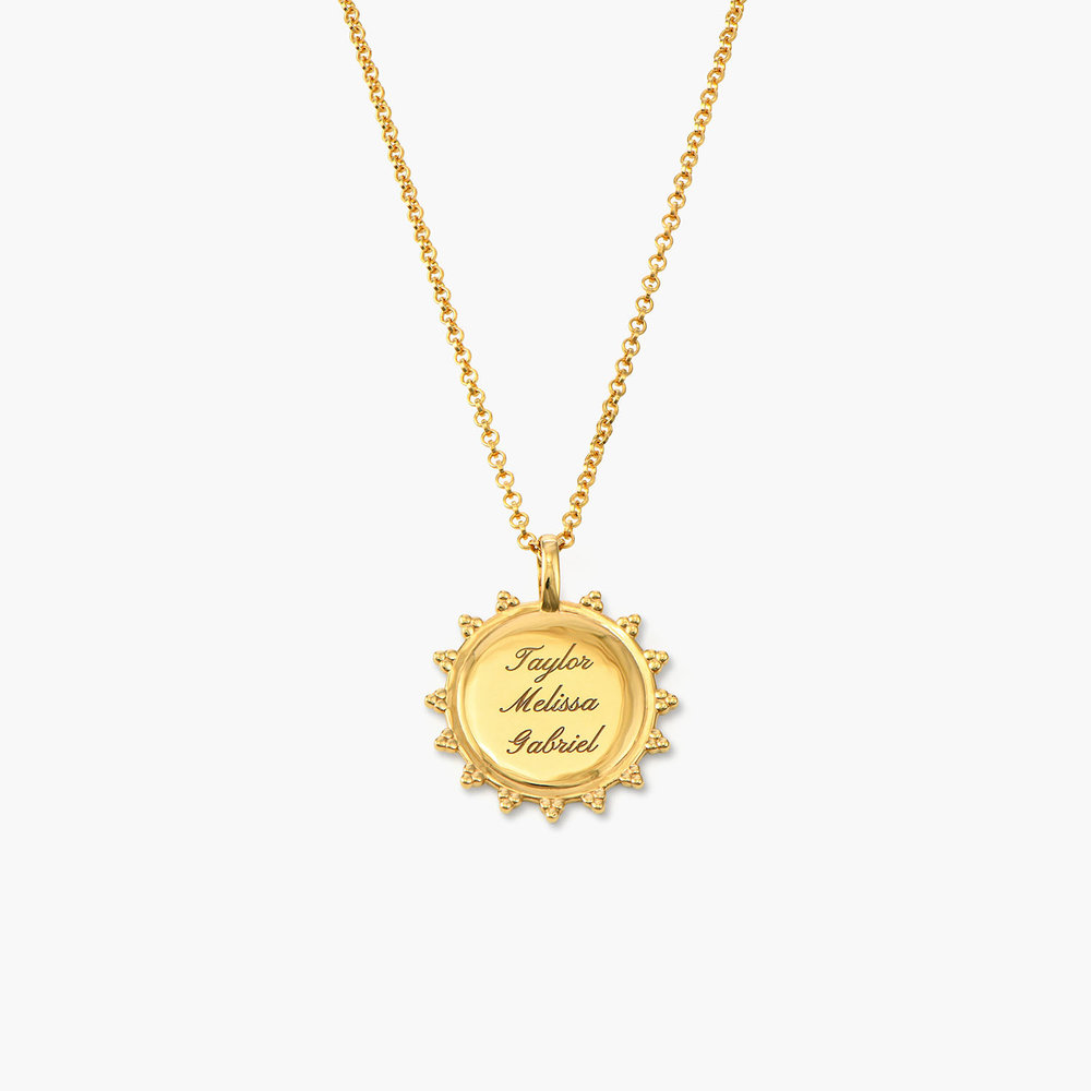 Fusion Sun Necklace - Gold Plated