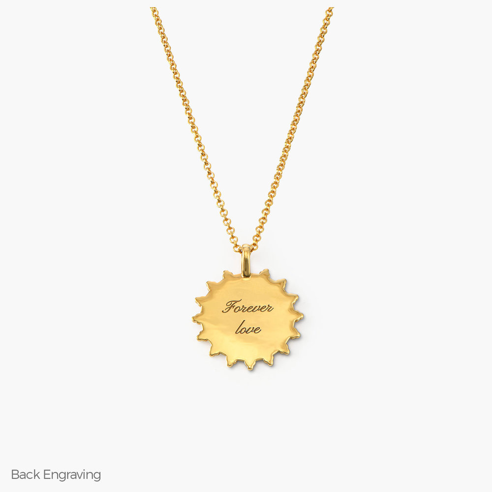 Fusion Sun Necklace - Gold Plated - 1