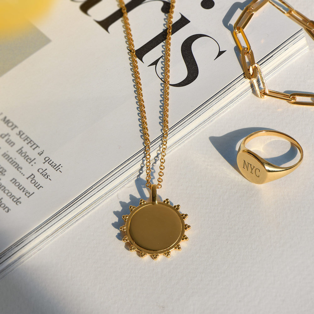 Fusion Sun Necklace - Gold Plated - 2