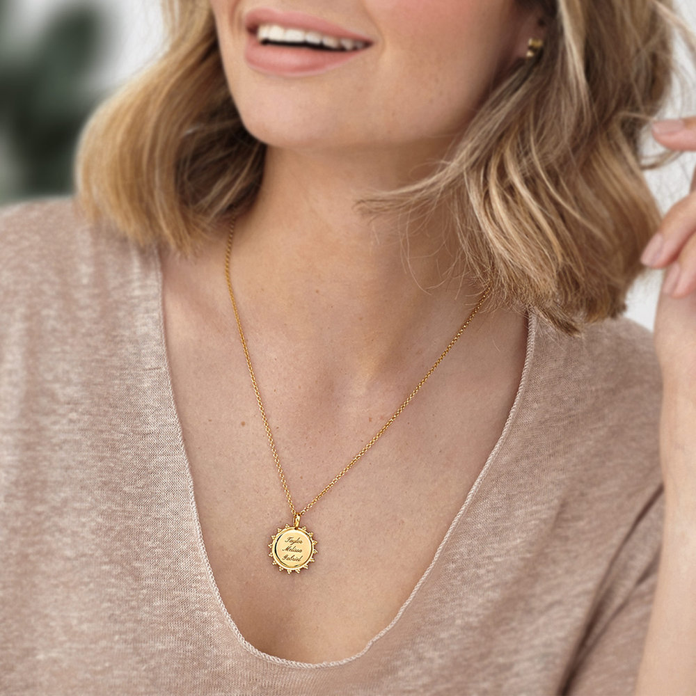 Fusion Sun Necklace - Gold Plated - 4