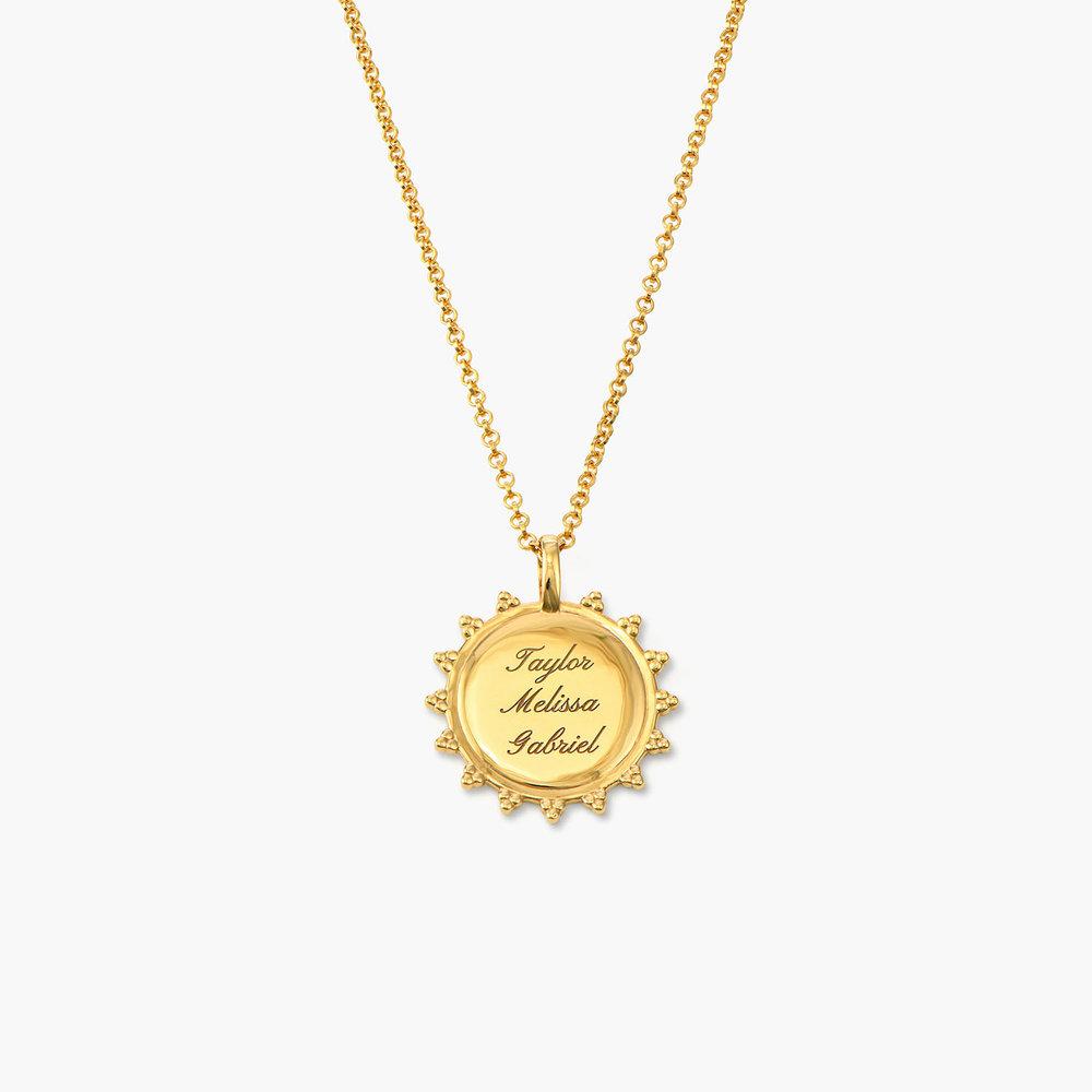 Fusion Sun Necklace - Gold Vermeil