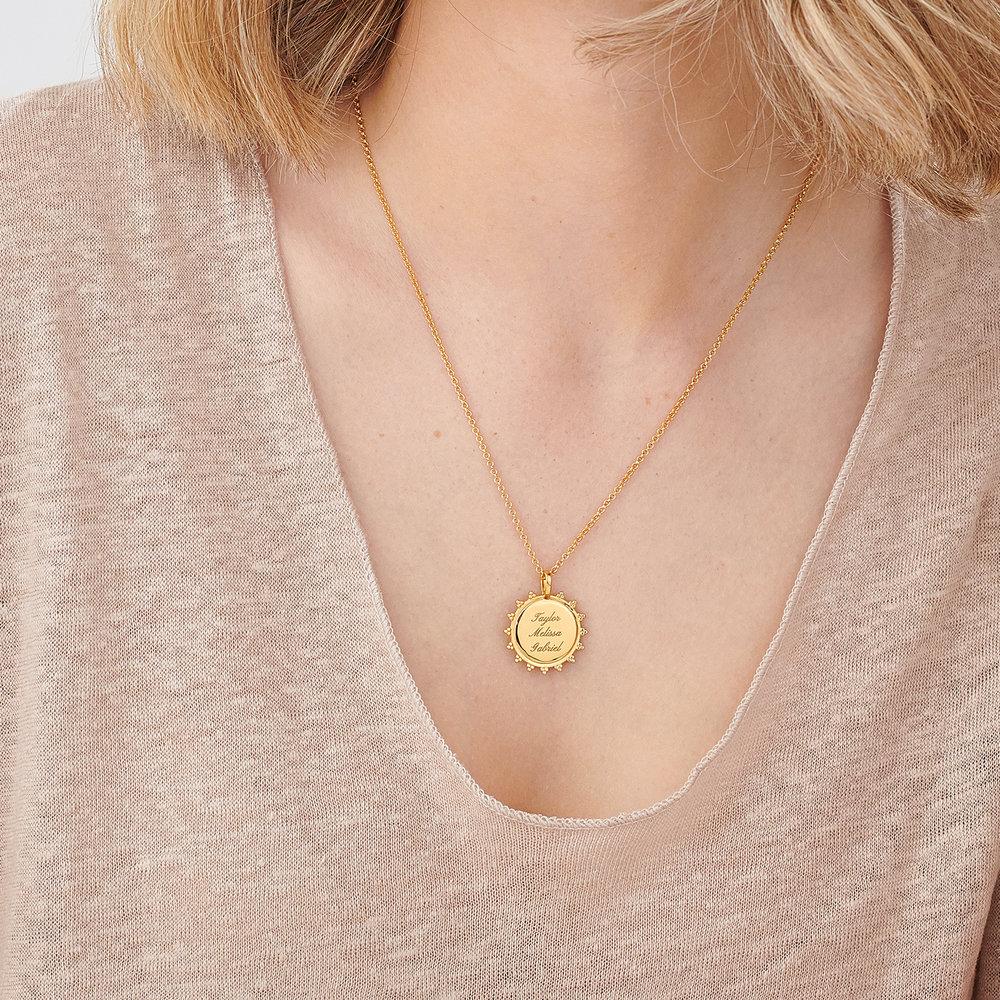 Fusion Sun Necklace - Gold Vermeil - 4