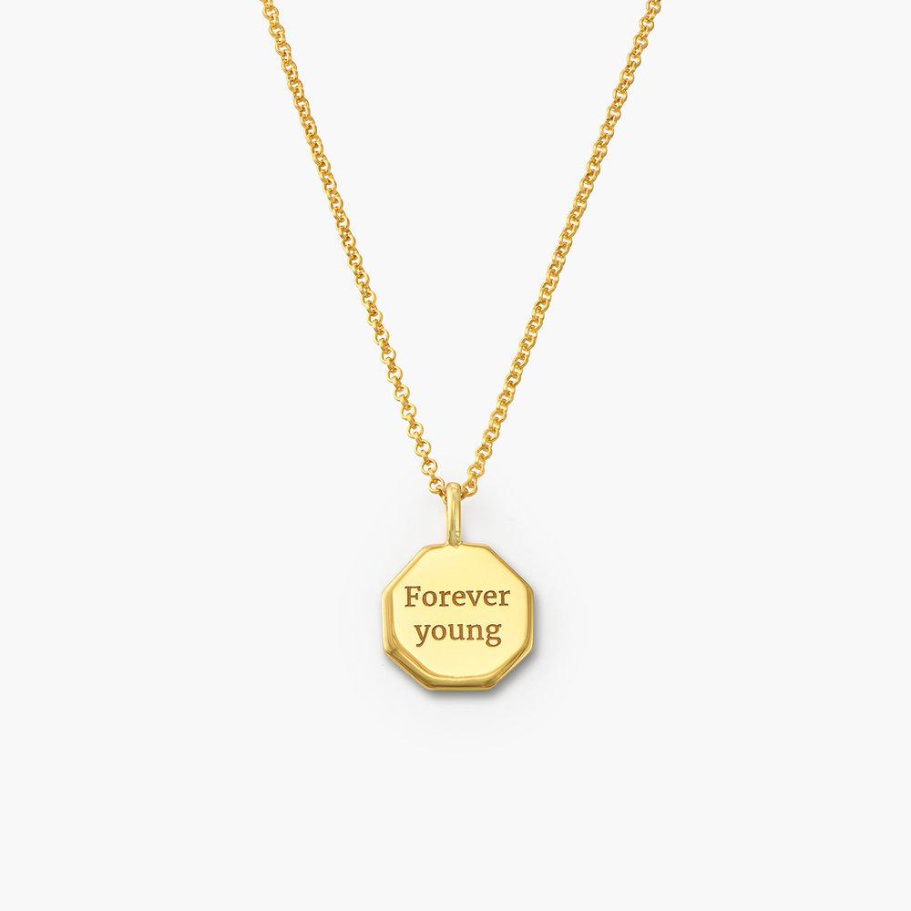 Octagon Initial Necklace - Gold Vermeil - 1