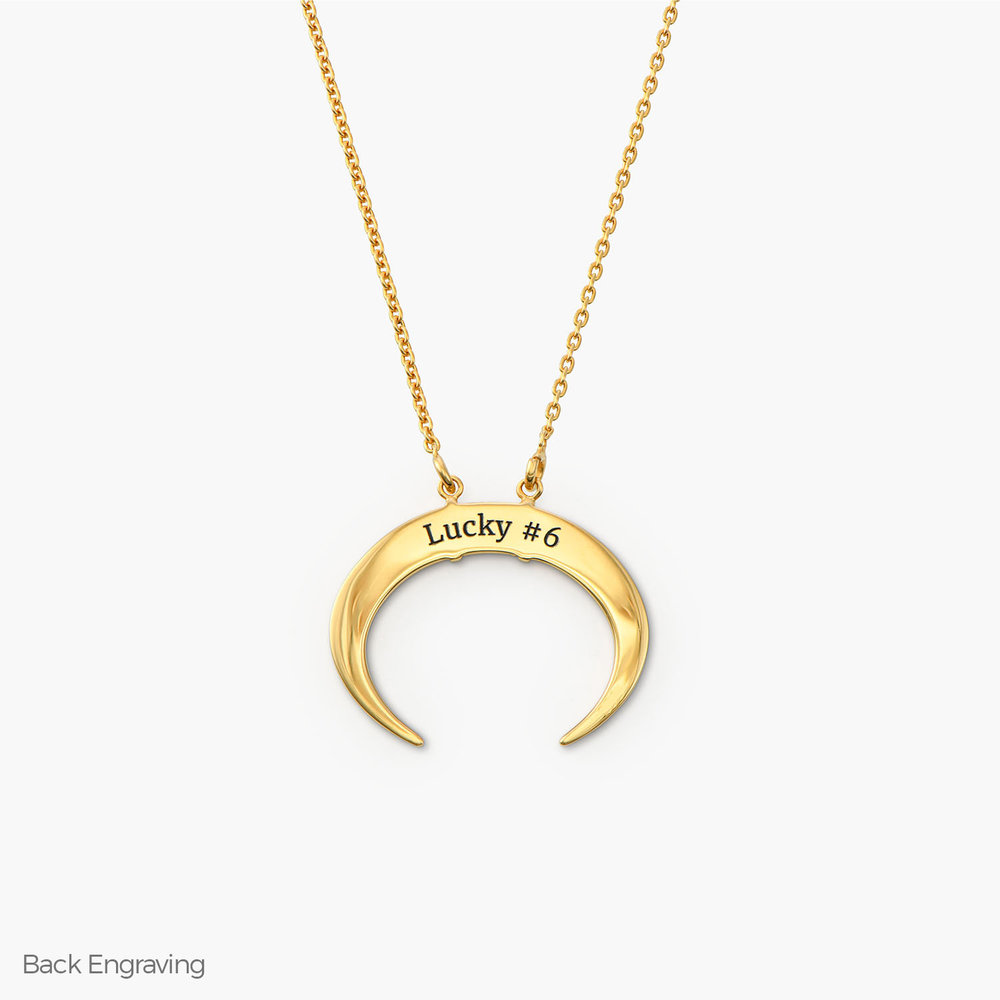 Crescent Moon Necklace - Gold Plated - 1