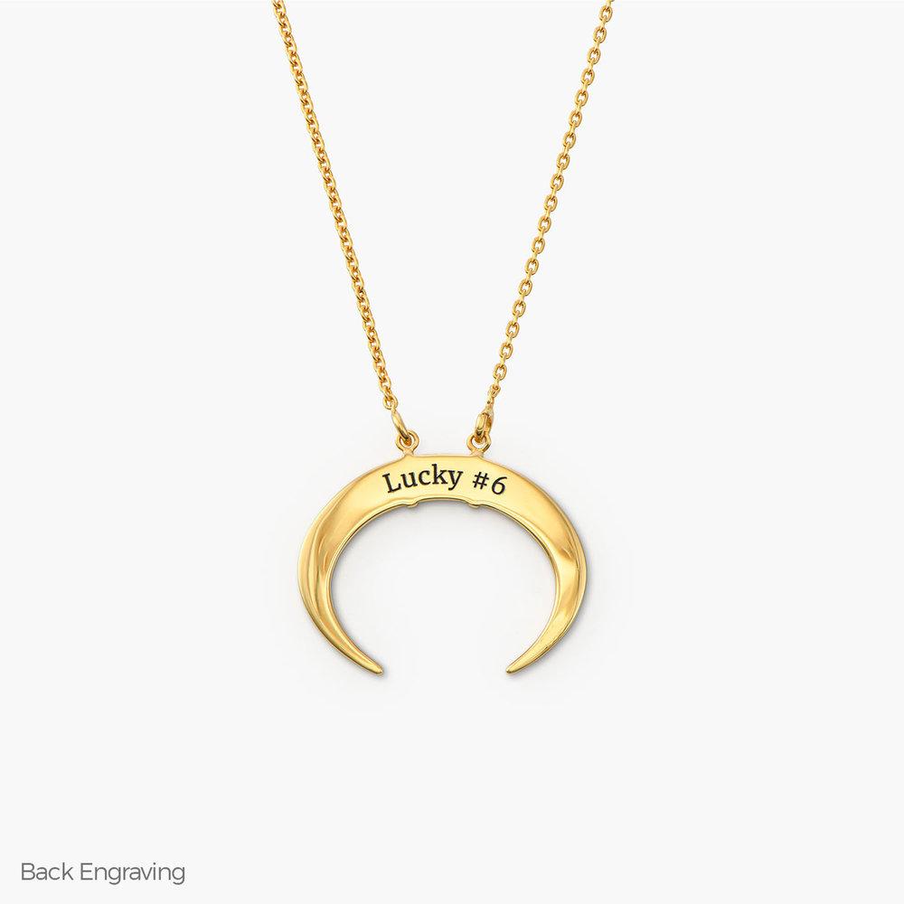 Crescent Moon Necklace - Gold Vermeil - 1