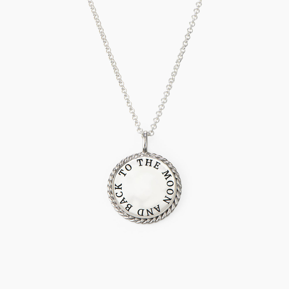Cosmic Cable Pendant Necklace - Sterling Silver