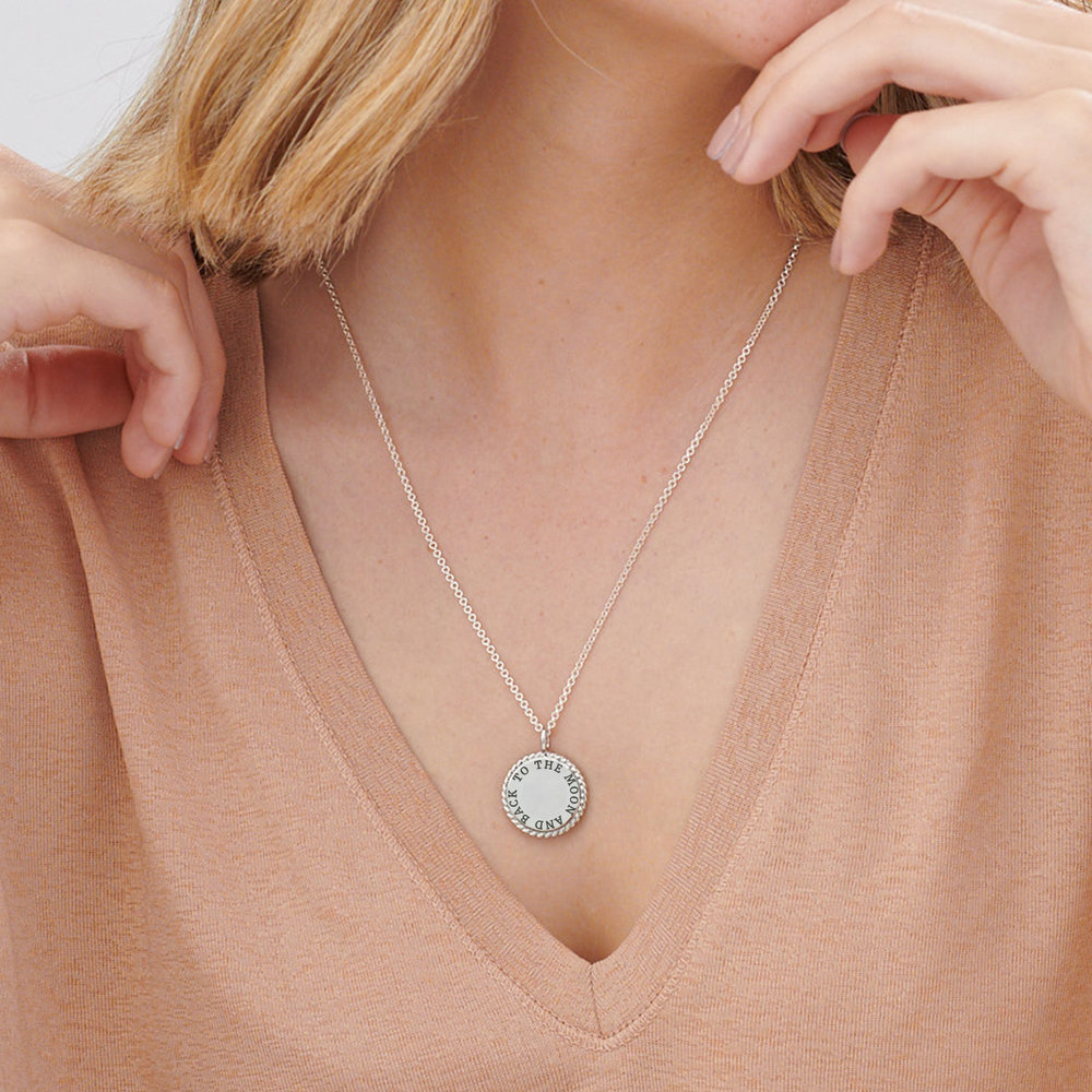 Cosmic Cable Pendant Necklace - Sterling Silver - 3