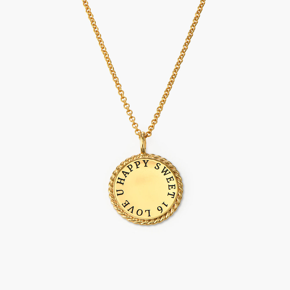 Cosmic Cable Pendant Necklace - Gold Plated - 1