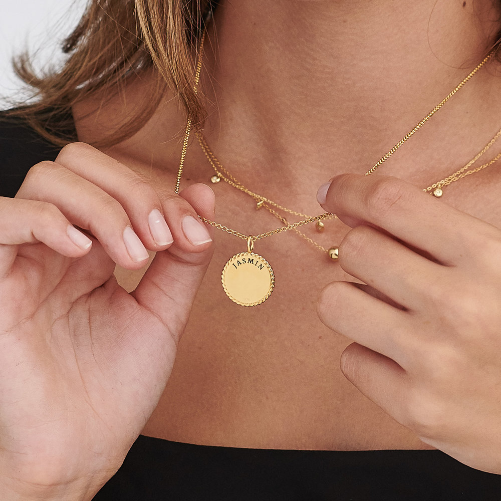 Cosmic Cable Pendant Necklace - Gold Plated - 4