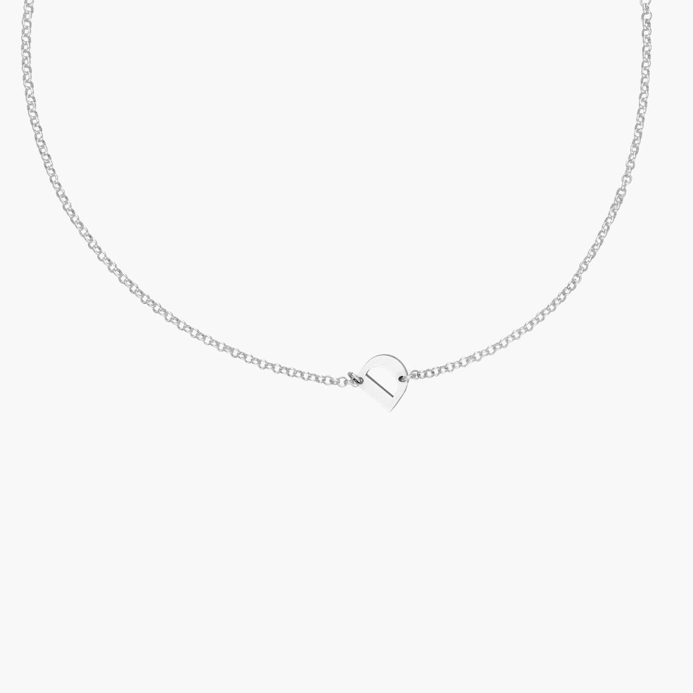 Mini Initial Necklace - Sterling Silver