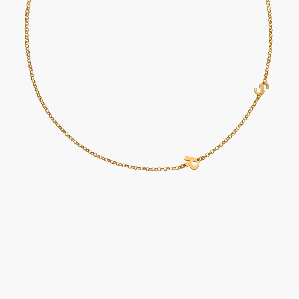 Mini Initial Necklace - Gold Plated