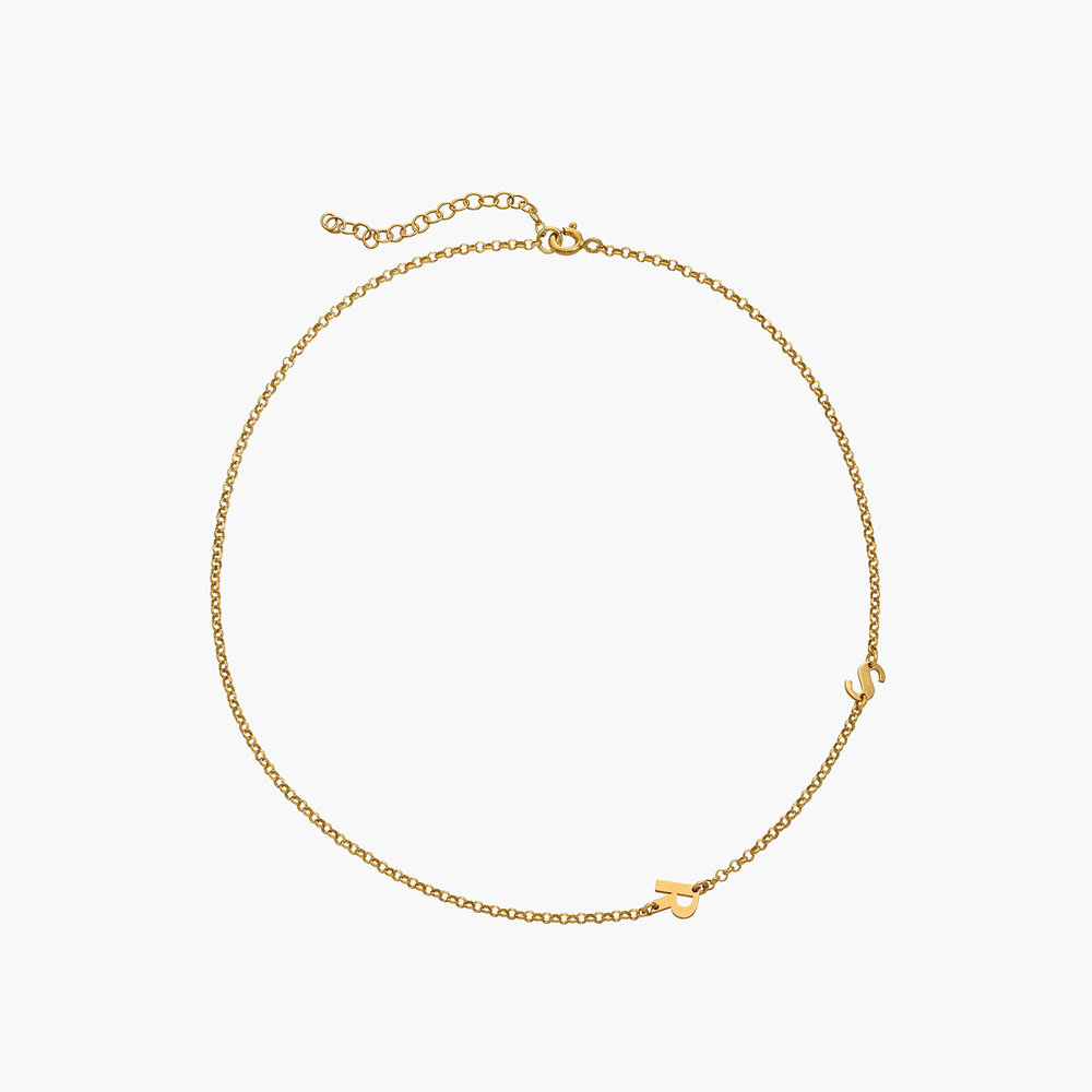 Mini Initial Necklace - Gold Plated - 1
