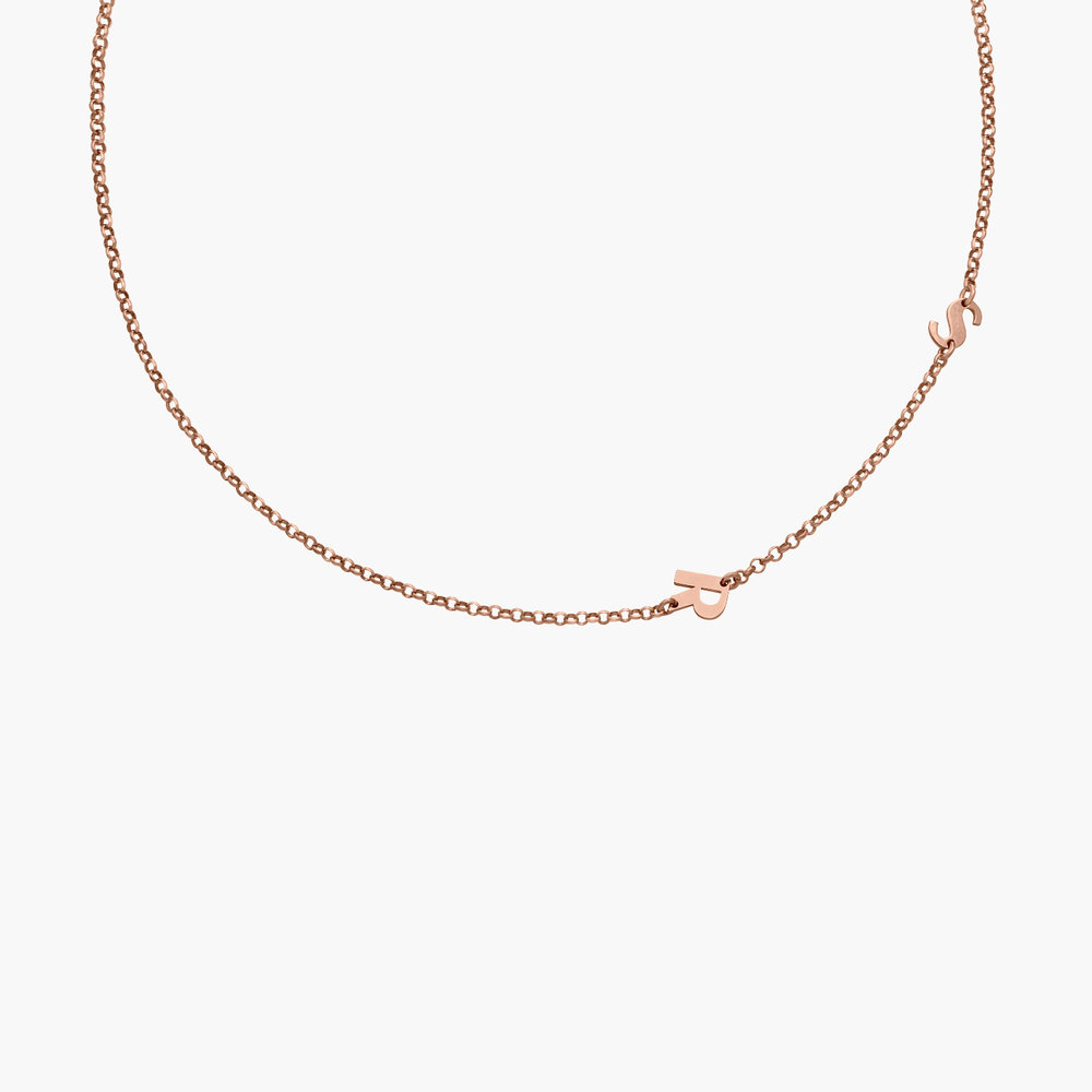 Mini Initial Necklace -  Rose Gold Plated