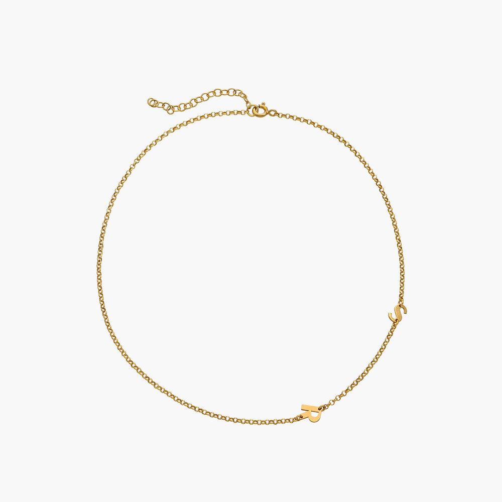 Mini Initial Necklace - Gold Vermeil - 1