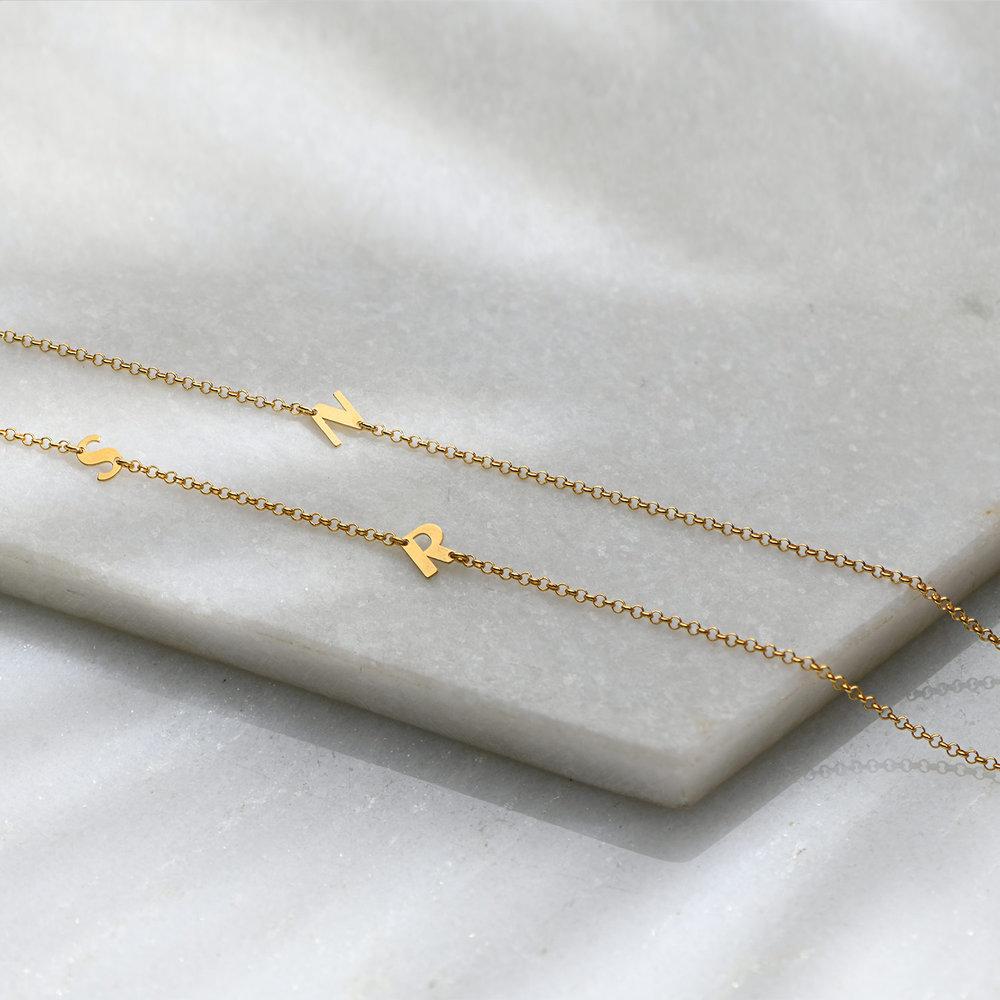 Mini Initial Necklace - Gold Vermeil - 2