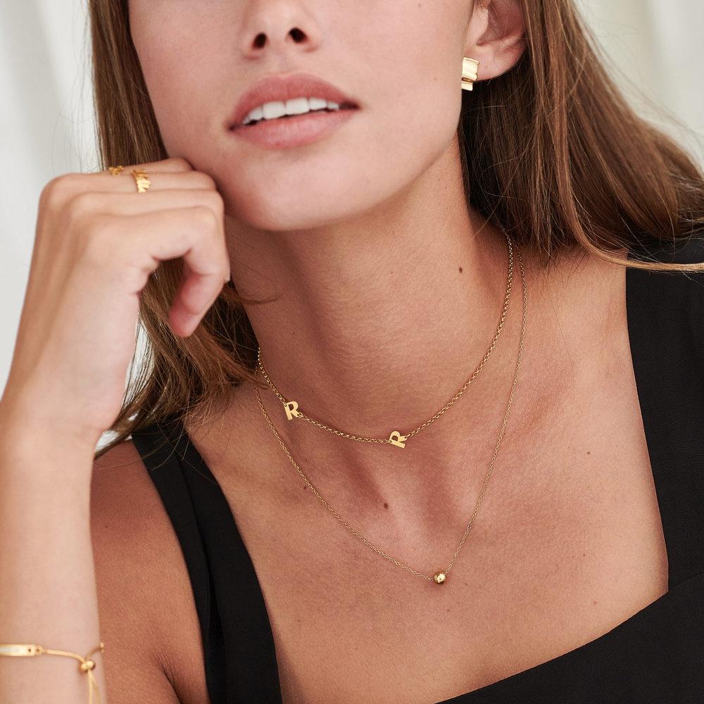 Mini Initial Necklace - Gold Vermeil - 3