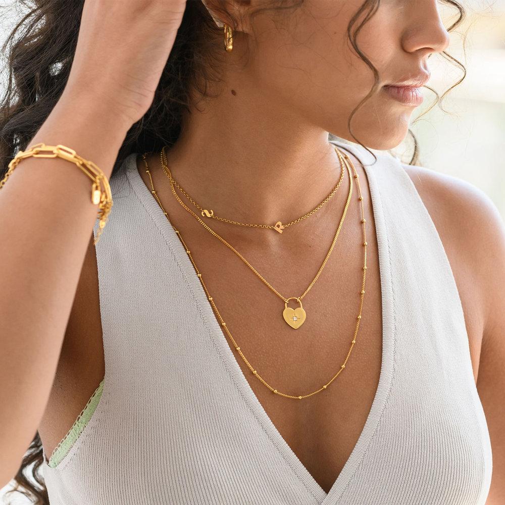 Mini Initial Necklace - Gold Vermeil - 4