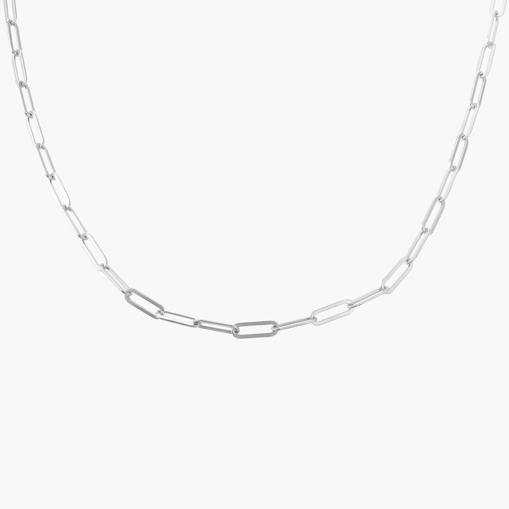 Medium Paperclip Chain Necklace - Sterling Silver