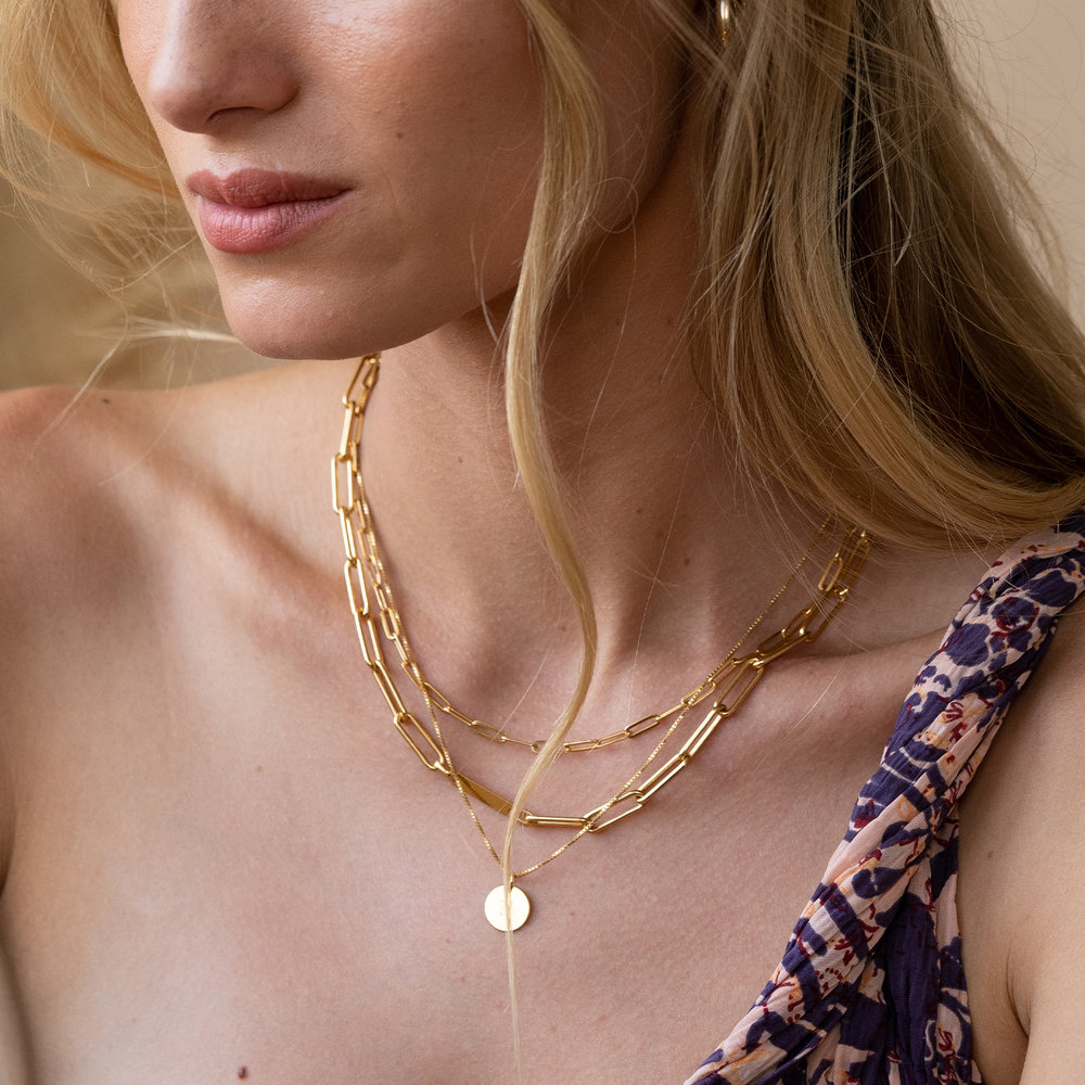 Chain Link Necklace in 18K Gold Plating - 2