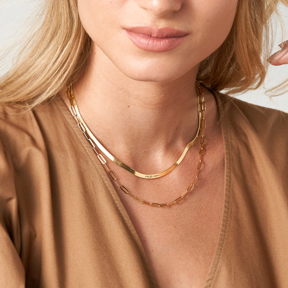 Chain Link Necklace in 18K Gold Plating - 3