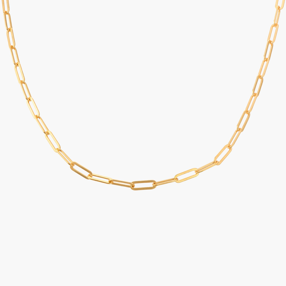 Medium Paperclip Chain Necklace - Gold Vermeil