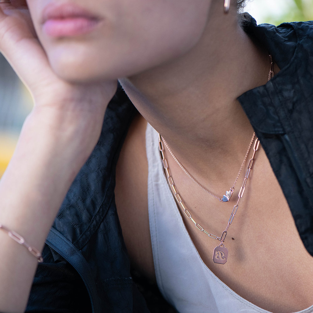Love Struck Necklace - Rose Gold Plated - 1